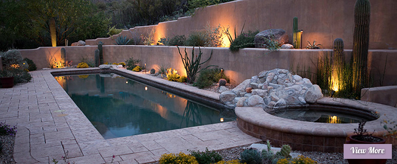Outdoor Landscape Lighting for Sonoran Gardens of Tucson, Arizona