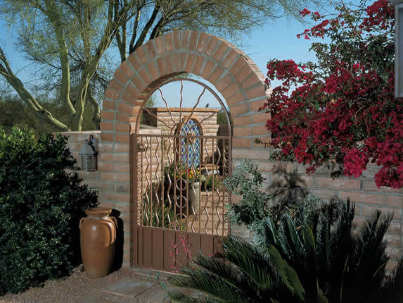 Retaining Amp Block Walls Tucson Az Sonoran Gardens Inc