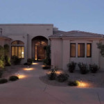 Path and up lights at front entry | 2008 ALCA Judges Award
