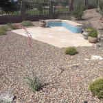 Flagstone Patio with seatbench