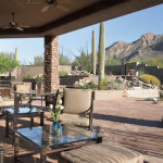 Outdoor living area with flagstone patios | 2004 ALCA Award of Excellence