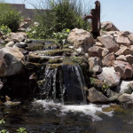 Living pond with waterfall and aquatic plants | 2006 Xeriscape Contest 1st place