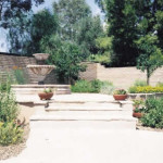 Mexican fountain at flagstone patio | 2002 ALCA Judges Award