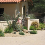 Colorful native plants at entry to courtyard | 2010 Xeriscape Award