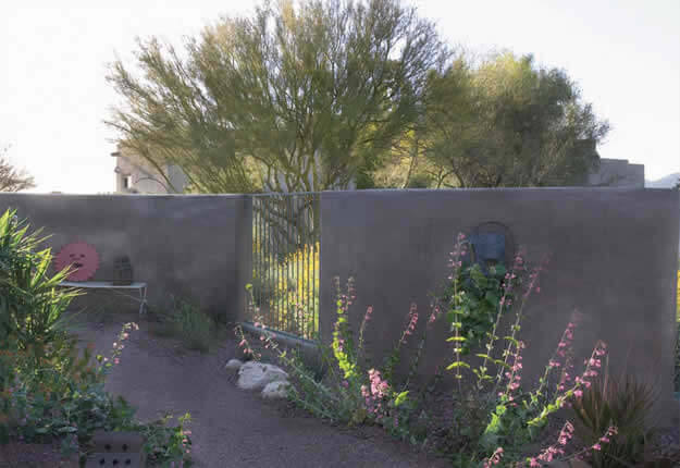 Ornamental Iron Gate In Masonry Privacy Wall | 2005 ALCA Award Of  Excellence | 2008 APLD