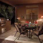 Outdoor living area with BBQ counter and Dining area | 2006 ALCA Judges Award