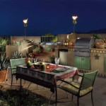 Outdoor Kitchen with brick patio | 2005 ALCA Award of Excellence | 2008 APLD Award of Merit