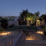 Path and up lights at outdoor living area | 2008 ALCA Judges Award