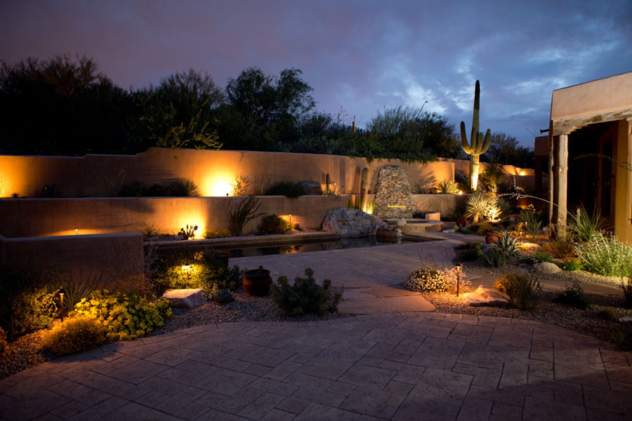 outdoor landscape lighting ideas front yard outdoor lighting tucson arizona landscape az sonoran gardens inc