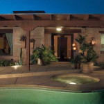 Various types of lights used in combination to illuminate outdoor living area | 2007 APLD Gold Award