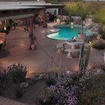Colored stamped concrete patio and pool deck | 2007 APLD Gold Award